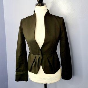 VALENTINO Belted Pleated Peplum Jacket